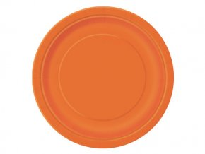 eng pl Pumkin Orange Paper Plates 23 cm 8 pcs 25305 2