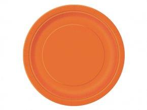 eng pl Pumkin Orange Paper Plates 23 cm 8 pcs 25305 2