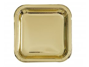 eng pm Gold Paper Plates 23 cm 16 pcs 26215 1