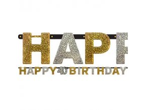sparkling celebration age 40 letter banner scellett40