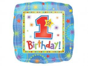 eng pl One derful Birthday Boy Foil Balloon 45 cm 1 pc 4637 2