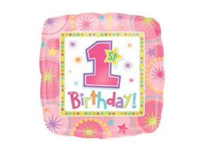 eng pm One derful Birthday Girl Foil Balloon 45 cm 1 pc 4638 2