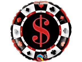 18 round foil casino qualatex 43389