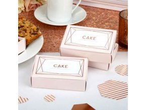geo blush Wedding Cake Boxes GEOBCBOX v2