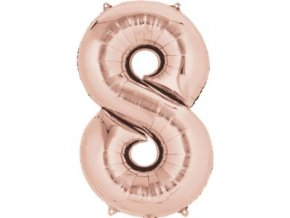 rose gold number 8 balloon FOIL2693 v1