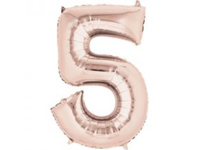 rose gold number 5 balloon FOIL2690 v1