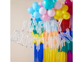 mix 461 multicoloured confetti filled happy birthday balloon bunting min