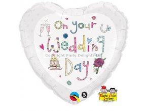 rachel ellen wedding day foil balloon FOIL1447