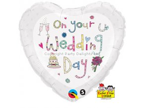 rachel ellen wedding day foil balloon FOIL1447