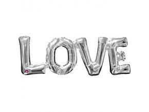 love silver balloon FOIL2447