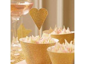 Pastel Perfection Gold Heart Picks PPERPICK
