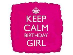 keep calm birthday girl foil balloon FOIL975