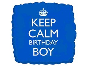 keep calm birthday boy foil balloon FOIL976