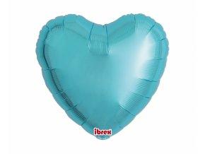 Fóliový balón srdce  pastel blue 43cm