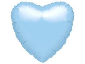 18 inch pearl pastel blue heart foil balloon FOIL365