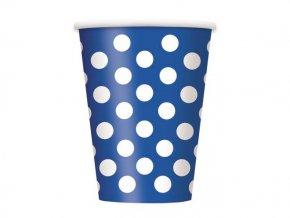 Pohár BODKA modrý 6ks v balení