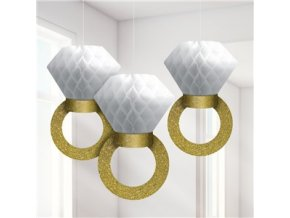 wedding hanging ring honeycomb decoration WEDDDEC38 v1