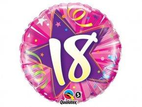 """Fóliový balón """"18"""" ružový Happy Birthday 47cm"""