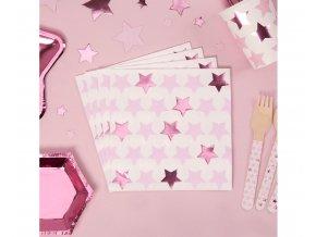 serwetki papierowe star rozowe gwiazdki 33x33 c (1)