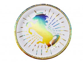 eng pl Paper Plates Unicorn 23 cm 6 pcs 38086 1