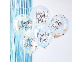 tw 802 baby boy blue confetti balloons 1