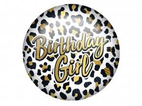 eng pl Birthday Girl Leopard Foil Balloon 46 cm 1 pc 52990 1