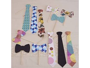 A Vintage Affair Photo Booth Tie Props VINAPHOT2