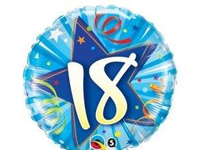 """Fóliový balón Hviezda""""18"""" Modrý  46cm"""