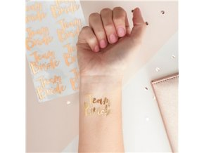 Rose Gold Temporary Tattoos HENP073 v1 a1