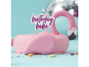 GV 912 Pink Glitter Birthday Babe Candle 2