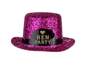 Mini Pink Glitter Hen Party Hat HENP044
