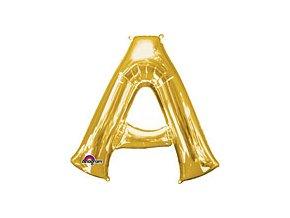 Gold Letter A Balloon Foil FOIL2368 th2