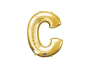 Gold Letter C Balloon Foil FOIL2370 th2