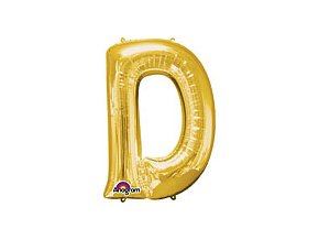 Gold Letter D Balloon Foil FOIL2371 th2