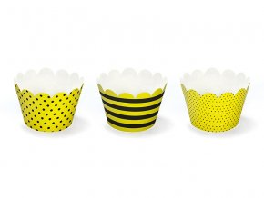 Košičky na muffinky Včielka 6ks v balení