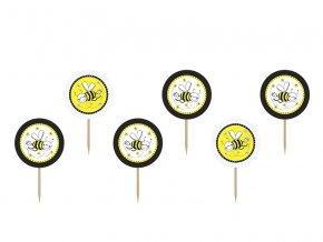 Ozdoba na muffinky Včielka 6ks v balení