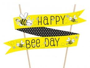Dekorácia - Zapich na tortu Včielka Happy Bee Day 1ks v baleni