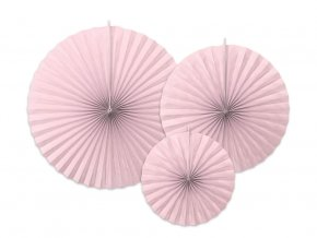 eng pl Decorative rosettes pink 3 pcs 33804 1