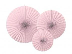eng pl Decorative rosettes pink 3 pcs 33804 1