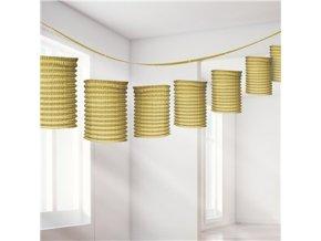Gold Paper Lantern Garland Decoration DECO947 v1