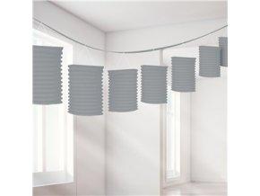 Silver Paper Lantern Garland Decoration DECO956 v1