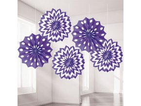 Purple Dots & Chevrons Fan Decorations DCPUFANS