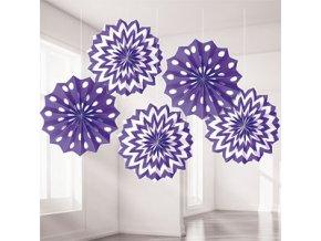 Purple Dots & Chevrons Fan Decorations DCPUFANS