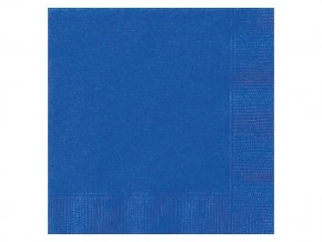 eng pl Royal Blue Beverage Napkins 25 cm 20 pcs 25612 1