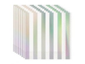 bwh fenyes csikos ezust hologramos szalveta p53932