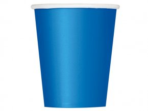 eng pl Royal Blue Paper Cups 266 ml 8 pcs 25627 1