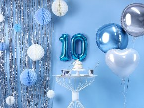 eng pl Number 1 Blue Foil Balloon 35 cm 1 pc 34020 1
