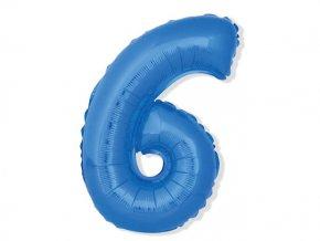 eng pl Mini Shape Number 6 Blue Foil Balloon 35 cm 1 pc 26679 2