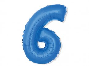 eng pl Mini Shape Number 6 Blue Foil Balloon 35 cm 1 pc 26679 2