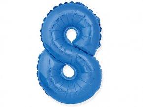 eng pl Mini Shape Number 8 Blue Foil Balloon 35 cm 1 pc 26681 2